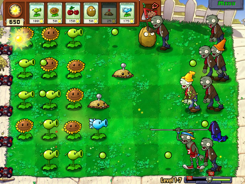 Читы в игре  Plants vs Zombies