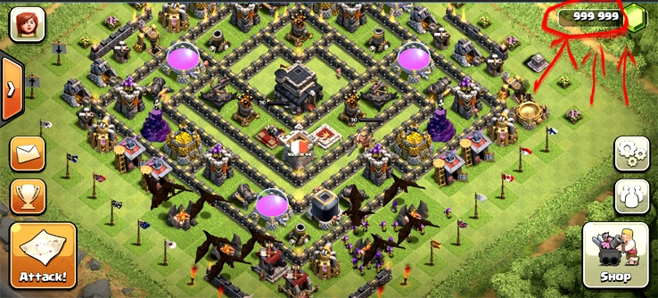 Clash of clans золото